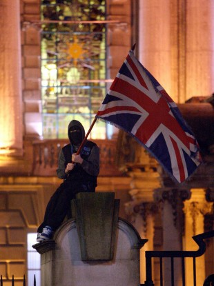 Protests over the restrictions on flying the union flag at Belfast City Hall have taken place in the North in recent weeks.