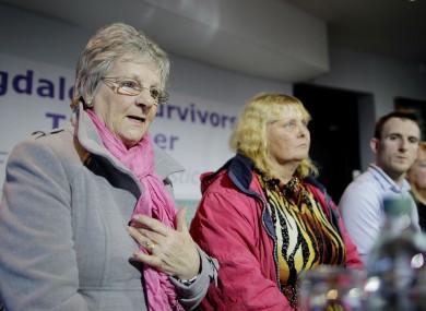 Marina Gambold, Mary Smyth and Stephen O'Riordan of Magdalene Survivors Together