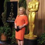 Jacki Weaver looked resplendent in orange.  (Chris Pizzello/Invision/AP)