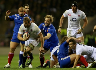 Chris Robshaw led from the front again.