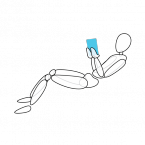 A posture born of the tablet. Without persistent lumbar support, this will result in back pain.