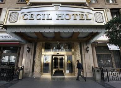 The hotel in LA where the dead body was found.