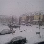 Snow in Clonee, Dublin 15 at 7.30 am. (Image: Paul Mullen/TheJournal.ie reader)