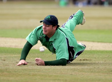 Jesse Ryder dives to stop a boundary in 2007.