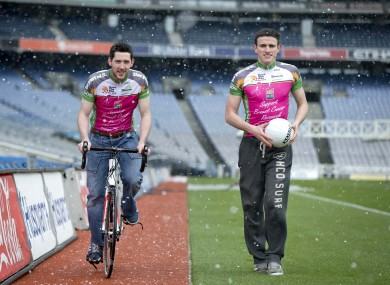 Mark McHugh at the launch of Race The Rás in Croke Park yesterday.