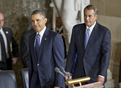 President Barack Obama and Speaker of the House John Boehner in Washington this week