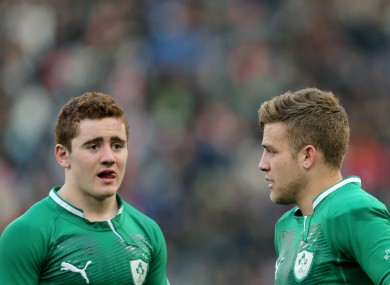 Paddy Jackson and Ian Madigan after the Italy game.