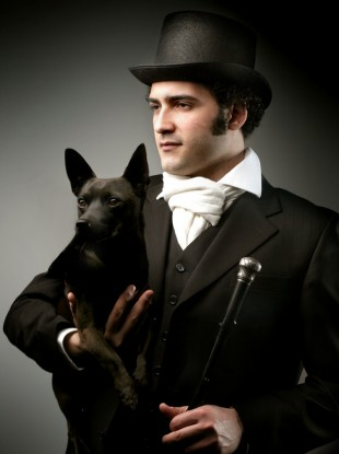If we're stinking rich, we would also commission a portrait of ourselves and our dog, like this one...