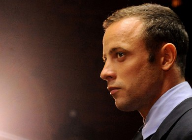 Oscar Pistorius, in court in Pretoria, South Africa, for his bail hearing charged with the shooting death of his girlfriend.