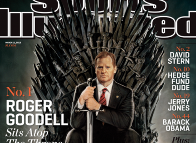 Sports Illustrated cast Roger Goodell in this Game of Thrones cover.