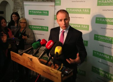 Micheál Martin speaking at the RDS in Dublin this evening
