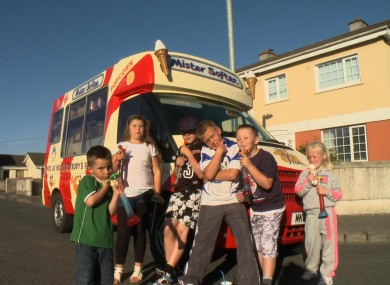 The kids from TV3's The Estate enjoying some treats
