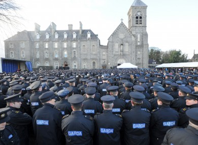 Thousands of Gardaí attend the funeral of Detective Garda Adrian Donohoe, on January 30, in Dundalk.