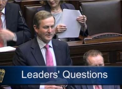 Taoiseach Enda Kenny during Leaders' Questions