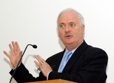 Former Taoiseach and president of the IFSC, John Bruton.