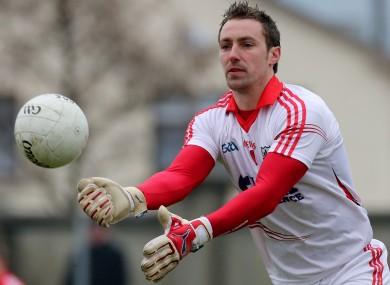 Cork goalkeeper Ken O'Halloran.