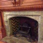 Large fireplace