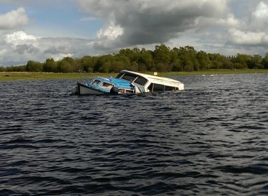 Six people were rescued after this cruiser began taking on water at Lough Ree.
