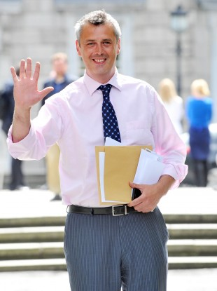 Colm Keaveney outside Leinster House recently
