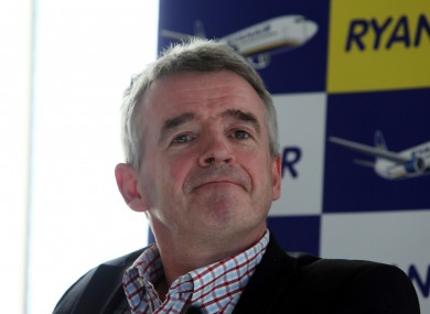 Michael O'Leary has good reason to look smug.
