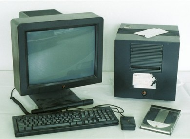 The first web server: Tim Berners-Lee used this NeXT computer in 1990 to develop and run the first WWW server, multimedia browser and web editor