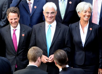 Britain's Chancellor Alastair Darling (centre) is flanked by US Treasury Secretary Tim Geithner (left) and French finance minister Christine Lagarde at the 2009 G20. It is reported that the British government attempted covert surveillance of visiting delegations, including tapping phone calls and emails.