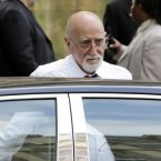 Actor Dominic Chianese arrives for the funeral service of James Gandolfini, star of