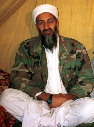 An undated photo of Bin Laden in Afghanistan.