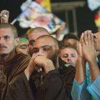 Pilgrims attend the World Youth Day inaugural Mass. (AP Photo/Domenico Stinellis)