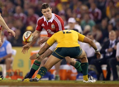 Brian O'Driscoll starts his final Lions match in midfield.