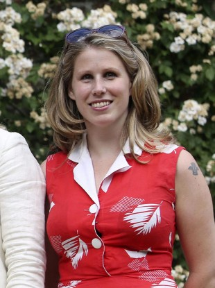 File photo from 24 July of Caroline Criado-Perez, co-founder of the Women's Room, who received Twitter threats
