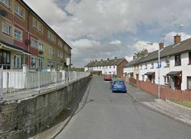 Iniscarn Crescent area of Derry where the incident happened.