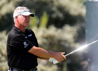 Darren Clarke carded an 8 on the sixth hole.