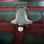 A Nepalese Muslim offers prayers at a mosque in Katmandu, Nepal. Muslims throughout the world are celebrating the holy fasting month of Ramadan, refraining from eating, drinking, and smoking from dawn to dusk. (AP Photo/Niranjan Shrestha)