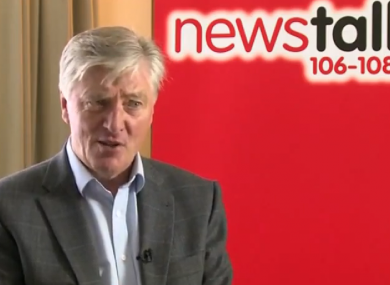 Pat Kenny speaking to Chris O'Donoghue in an interview earlier today
