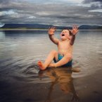 A very adorable Daniel Fagan, aged 3, enjoying the warm weather at Killaspugbrone Beach, Sligo. (Pic: Avice-Claire McGovern)