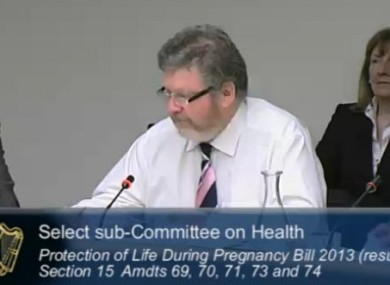 Heath Minister Dr James Reilly at the hearings today