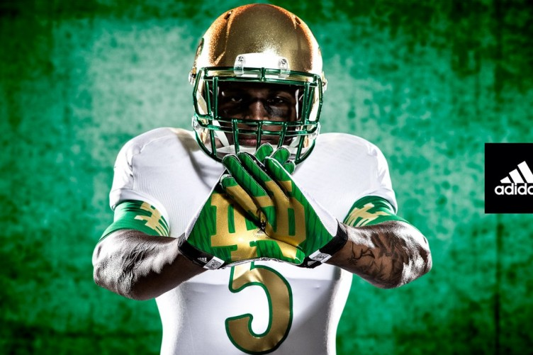 2d79e3ab3a2 Notre Dame football unveils its flashy new 'Shamrock Series' uniform