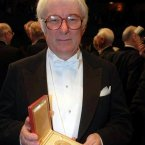 Heaney receiving his Nobel Prize in Literature in 1995<span class=
