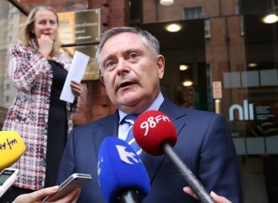 Brendan Howlin in Dublin yesterday