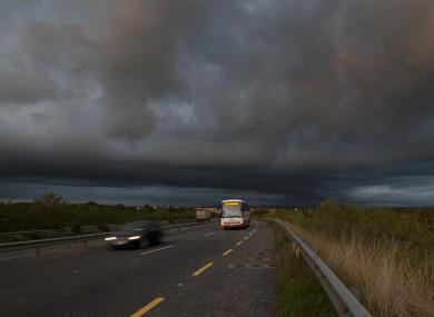 The change of seasons captured by photographer Eamonn Farrell in Newbridge, county Kildare this week.