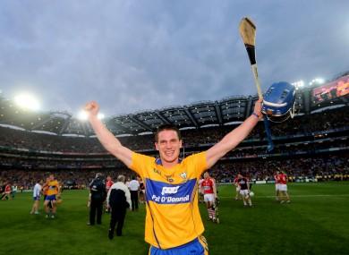 Conlon celebrates Saturday's All-Ireland win against Cork.