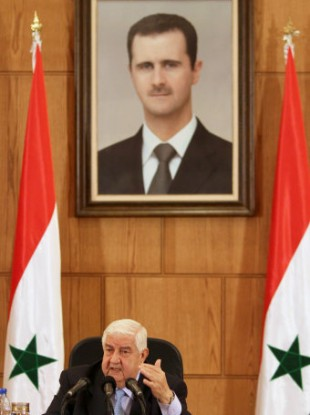 Syrian Foreign Minister Walid al-Moallem.