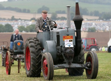 Mick Murray pictured on his vintage Lanz Bulldog tractor