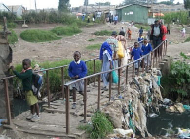 A file image of the Mukuru slum in Nairobi