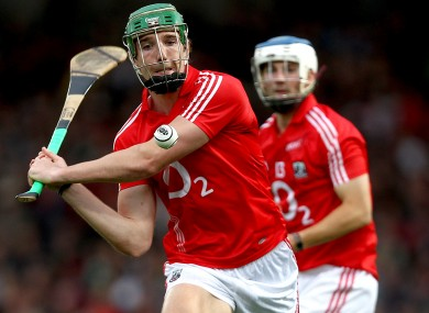 Walsh in action for the Cork U21 hurlers.