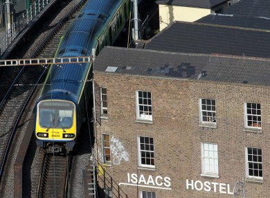 A DART train in Dublin (file)