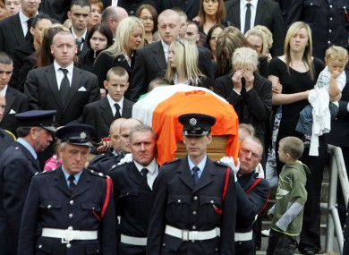 Funeral of the two Bray fire men in 2007.