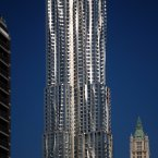 Frank Gehry's residential building has 76 stories and was built to look like it was melting in the sun. Image: Emporis.