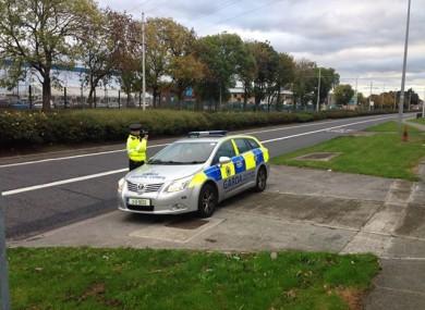 Garda checkpoint